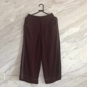 Pull and Bear Maroon Culottes